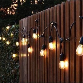LED复古灯丝灯S14灯泡灯串 户外防水庭院圣诞装饰灯