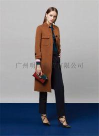 品牌女装专柜折扣   原创设计师17年新款双面呢 厂家一手货源