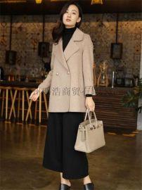 雙面羊絨大衣品牌女裝折扣哪裏進貨就到廣州明浩