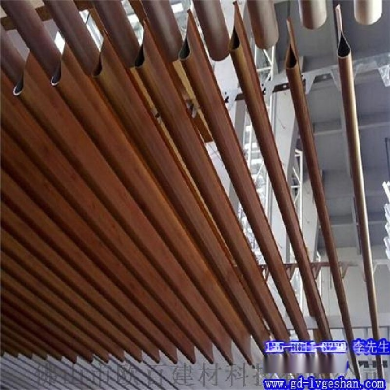 滴水铝挂片 滴水型木纹铝挂片 湖北铝挂片吊顶