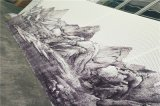 山水画背景铝单板 室内隔断背景场铝单板