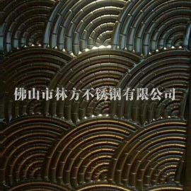 无锡 **304镀铜压花板 古铜蚀刻不锈钢板直销