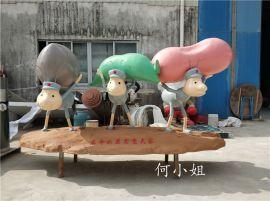 响应**主题蚂蚁搬家造型玻璃钢卡通动物雕塑