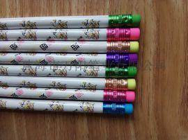 可爱的笔姐牌带橡皮头HB铅笔