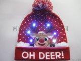LED發光聖誕帽 西方節日帽子 保暖環保材料