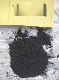 吕梁地坪用亮黑沙子   永顺除锈金刚砂供应商