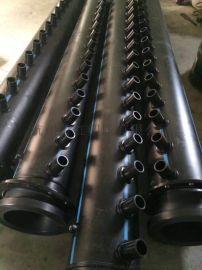 杭州萧红塑胶PE材质集分水器地源热泵空调工程