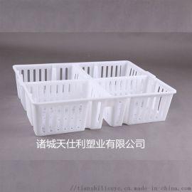 塑料鸡苗周转箱 四格鸡苗箱雏鸡运输箱
