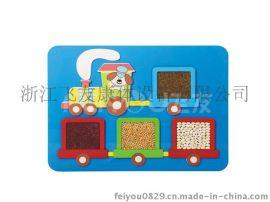儿童墙上桌面木质益智玩具摸大小