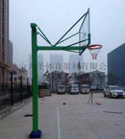 河北体育器材厂家批发 固定地埋篮球架  DSL-03