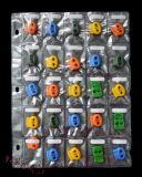 25格PVC钮扣样品袋 包装袋 多格辅料袋 服装辅料 文件夹