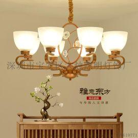 新中式吊灯古典复古卧室茶楼酒店客厅LED厂家直销
