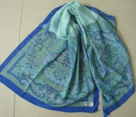 丝光毛印花围巾(005)