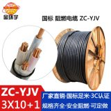 金环宇电缆厂家供应ZC-YJV电缆3*10+1*6平方 剪米