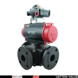 德国VATTENQ41F-16P 气动球阀中德合资上海工厂  气动三通碳钢球阀