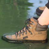 真皮透氣戶外登山鞋男女防水防滑耐磨徒步鞋中高幫春夏季戶外鞋靴
