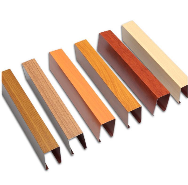 定製天花幕牆鋁方通吊頂仿木紋裝飾鋁方通廠家直銷