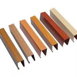 厂家定制生产U型铝方通表面处理木纹石纹**碳铝方通