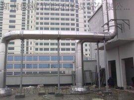 俊源环保圆形预制式不锈钢烟囱,工厂生产/现场组装