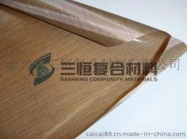 供应PTFE聚四氟乙烯单面漆布,单面特氟龙高温布