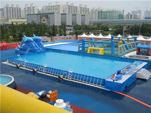 小型優質的鋼架游泳池兒童愛玩的優質水上樂園