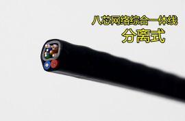 广东普菲特专业网线 24AWG超五类屏蔽双绞网络线300米