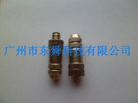 供应M12连接器供应商带LED灯,带屏蔽电缆插头线