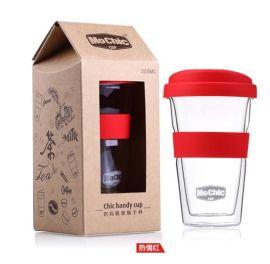 双层玻璃杯定制创意高档礼盒 高硼硅耐高温玻璃水杯杯子