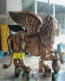 獅鷲雕塑_樹脂獅鷲雕塑-玻璃鋼獅子帶翅膀獅鷲雕塑定製