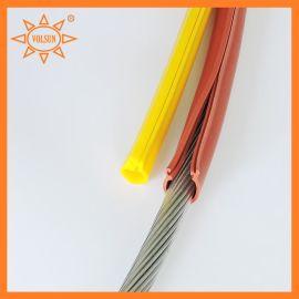 厂家直销卡扣式绝缘套管 抗漏电起痕 硅橡胶开口导线防护套