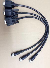 生产M12 8p  TO  Hdb 15p 连接线
