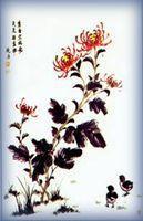套幅画卷帘系列 - 君子菊