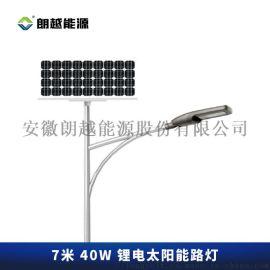 朗越7米40W锂电太阳能整套户外路灯-路霸王