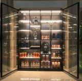 厂家定制 不锈钢白酒柜 超市会所展示柜展示架