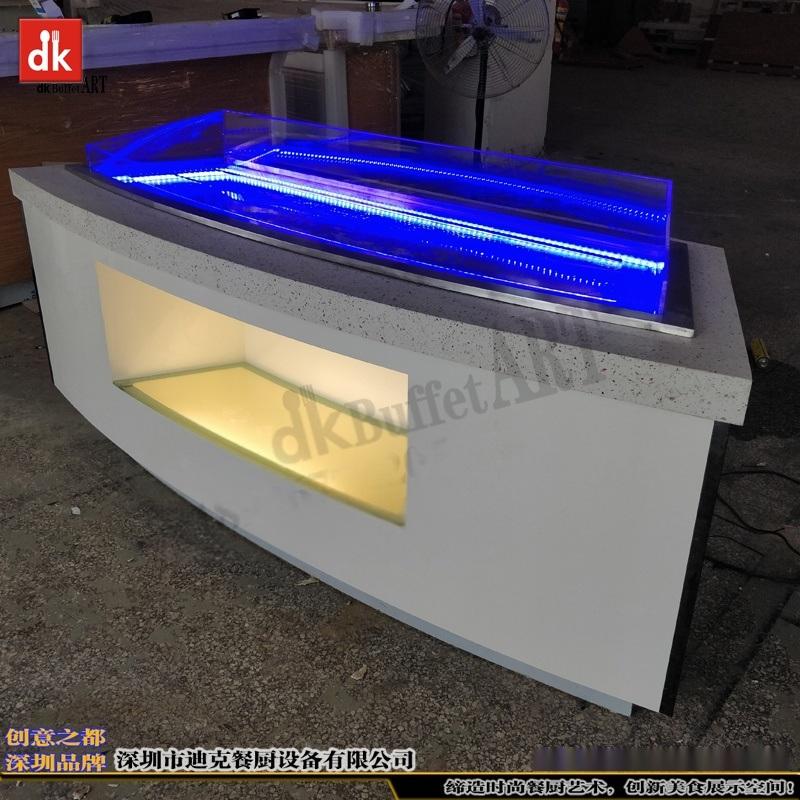 定制移动布菲台  自助餐台设计制作 海鲜冰池自助台