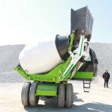 山东自动5.5方混凝土搅拌车 自上料搅拌车