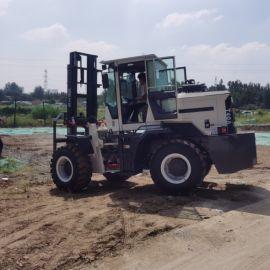 大型四驱越野式叉车 3吨多功能柴油搬运升降车