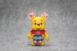 OEM加工动漫模型小熊维尼可爱公仔摆件塑胶玩具定制