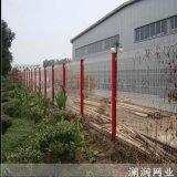 陝西三角折彎鐵絲桃形立柱護欄網規格