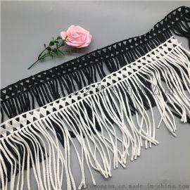 黑色白色牛奶丝水溶刺绣花边排须花边富宏厂家辅料