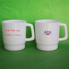 东莞HY马克塑料咖啡杯PP手柄杯11oz塑料水杯