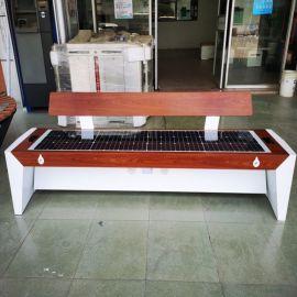 北京朝阳区广场休闲太阳能圆桌,景点太阳能智慧桌椅