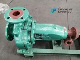 自贡自泵水泵厂铸铁卧式单级单吸离心泵清水泵循环泵