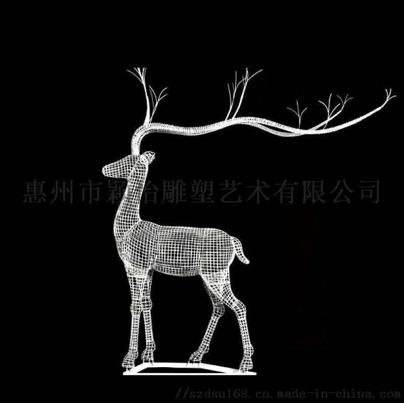 廣東鐵藝鏤空鹿雕塑/鐵藝鏤空鹿雕塑製作加工廠