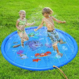 儿童户外游戏洒水垫喷雾池戏水池海豚170CM喷水垫