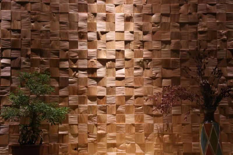 成都实木马赛克背景墙厂家实木定制背景墙