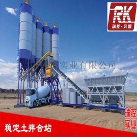 500吨水稳层拌和站水泥稳定土一体式混凝土搅拌站