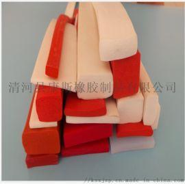 硅胶扁条 密封条 矩形胶条 防水条多规格定制