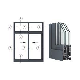 兴发铝材创高AL95T14A/24A系列隔热推拉窗