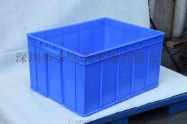东莞现货塑胶箱斜插式物流运输周转箱加厚储物箱连盖箱